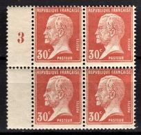 FRANCE 1922 / 1926 - BLOC DE 4 TP / Y.T. N° 173  - NEUFS** - France
