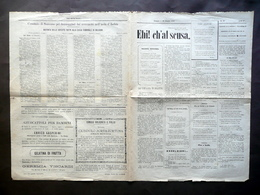 Ehi! Ch'al Scusa Rivista Anno IV Numero 40 Bologna 20/10/1883 Terremoto Ischia - Livres, BD, Revues