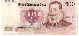 Chile P.153  500  Pesos  1997  Xf - Cile