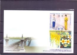 60th Anniversary  Thailand-Lao PDR Diplomatic Relations- FDC - Michel 3030-33- Bangkok 22/4/2011  (RM13693) - Thaïlande