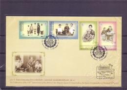 Celebration 150th Anniversary BVirth Queen Sri Savarindira - FDC - Michel 3113-16 - Bangkok 10/2011  (RM13720) - Thaïlande