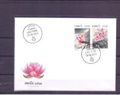 Lotus Fliowers - FDC -  Michel 2212-13 -  12/8/2011  (RM13746) - Laos