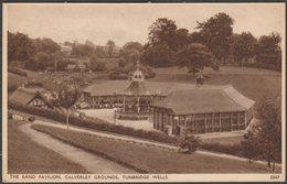 The Band Pavilion, Calverley Grounds, Tunbridge Wells, Kent, 1938 - Sweetman Postcard - England