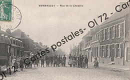 CPA [59] Nord > Wormhout - Rue De La Citadelle - Belle Animation - Wormhout