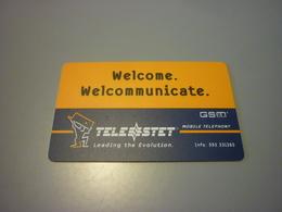 Greece Athens Hilton Hotel Room Key Card (Telestet Gsm) - Cartes D'hotel