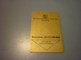Indonesia Jakarta JW Marriott Hotel Room Key Card (62-21 Version) - Cartes D'hotel