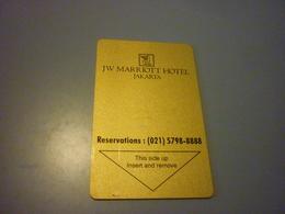 Indonesia Jakarta JW Marriott Hotel Room Key Card (021 Version) - Cartes D'hotel
