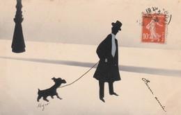 Illustrateur : MYRO:  ( L'homme Promenant Son Chien ) - Illustrators & Photographers