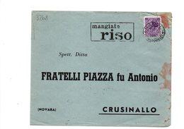 """VER3268 - REPUBBLICA , Annullo A Targhetta """" Mangiate Riso """" Del 1957 - 6. 1946-.. Repubblica"""