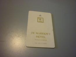 Malaysia Kuala Lumpur JW Marriott Hotel Room Key Card - Cartes D'hotel