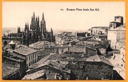 Burgos - Vista Desde San Gil - Fototipia De HAUSER Y MENET - Burgos