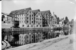 POLAND 1963   -  POSTCARD SPICHZE W BYDGOSZCZ - THE GRANARIES ON RIVER BRDA MAILED 15.4.1963  SHINING HIGH RIGHT CORNER - Polen