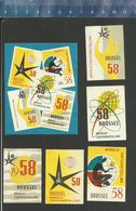 EXPO 1958 BRUXELLES  BELGIUM - EXPOSITION - BRUSSEL - BRUSSELS - WORLD EXHIBITION (RARE)  Matchbox Labels - Boites D'allumettes - Etiquettes