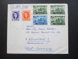 Iran Air Mail / Luftpost Teheran - Düsseldorf. Beleg Mit 6 Marken! - Iran
