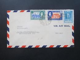 Iran Air Mail / Luftpost Teheran - Minden Firma Weserwerft - Iran