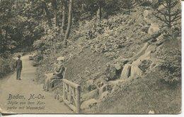 005559  Baden . Idylle Aus Dem Kurpark Mit Wasserfall  1913 - Baden Bei Wien