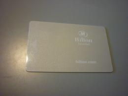 Turkey Istanbul Hilton Hotel Room Key Card (AKBANK Private Banking) - Cartes D'hotel