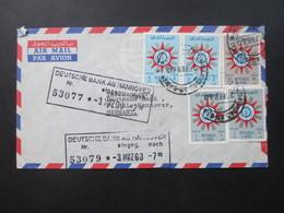 Irak 1960 Luftpost / Air Mail The Eastern Bank Limited Baghdad Iraq Dreieckstempel. 5 Marken - Iraq