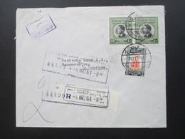 Jordanien 1961 Registered Letter / Einschreiben Amman (22) Gestempelter R-Zettel. Arab Bank Ltd. Amman Registered - Jordanien