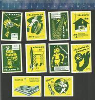 EXPO 1958 TéLEXPO 58 BRUXELLES  BRUSSELS SPACE ROCKET ROBOT PALAIS DES POSTES ET TéLéCOMMUNICATIONS - Boites D'allumettes - Etiquettes