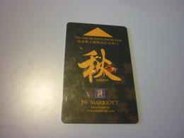 China Shanghai JW Marriott Hotel Room Key Card (autumn - Four Seasons Edition) - Cartes D'hotel