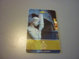 China Sanya Hainan Marriott Hotel Room Key Card (statue) - Cartes D'hotel