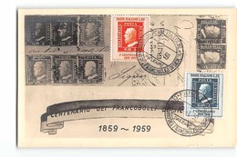 AG1675 02  CENTENARIO DEI FRANCOBOLLI DI SICILIA 1959 - ANNULLO - 1946-.. République