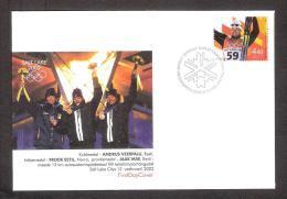 Estonia 2002 Stamp FDC Andrus Veerpalu Olympic 2002 Winner Mi 434 - Winter 2002: Salt Lake City