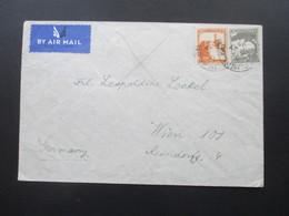Palästina Palestine 1939 Air Mail / Luftpost Nach Österreich Jerusalem - Wien - Palästina