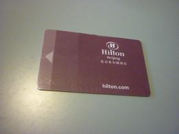China Beijing Hilton Hotel Room Key Card - Cartes D'hotel