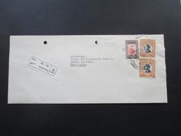 Jordanien 1966 / 67 Registered Letter / Einschr. United Nations Relief And Works Agency For Palestine Refugees. 2 Belege - Jordanien