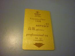 China Beijing Hilton Hotel Room Key Card (Executive Floor) - Cartes D'hotel