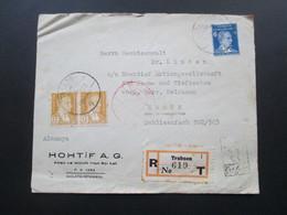 Türkei 1939 Einschreiben R- Trabzon 1 619 No T Roter Stempel Istanbul. R-Zettel Gestempelt. Nach Essen - 1921-... Republiek