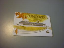 Costa Concordia Cruise Cruises Ship Cabin Card (white Version,eu,ospite) - Cartes D'hotel