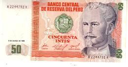 Peru P.131 50 Intis 1986  Unc - Perù
