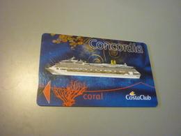 Costa Concordia Cruise Cruises Ship Cabin Card (coral Version,eu,gast) - Cartes D'hotel
