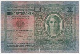 Austria P 12 - 100 Kronen 2.1.1912 - Fine - Austria