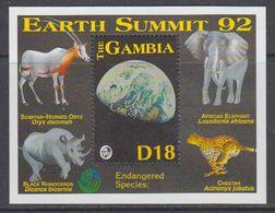 Gambia 1992 Earth Summit M/s ** Mnh (40775) - Gambia (1965-...)