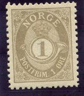 NORWAY 1893-1905 1 Øre Perf. 13½:12½ MNH / **.  Michel 52 B - Norway