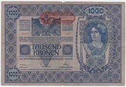 Austria P 61 - 1000 1.000 Kronen 2.1.1912 ( 1919 ) - Fine - Austria