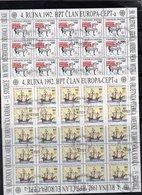 EUROPA CEPT AÑO 1992 CROACIA,  PLIEGOS 500 ANIVERSARIO DESCUBRIMIENTO DE AMÉRICA. - Europa-CEPT
