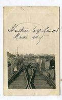 Carte Photo  92 : NANTERRE   Intérieur Gare Très Animé 1918    A  VOIR   !!!!! - Nanterre