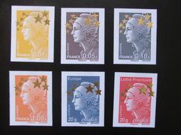 France 2012- Série N°4662A Au 4662Q - 15 Timbres Grand Format - Neufs - Marianne Europe Etoile D'Or - 2008-13 Marianna Di Beaujard