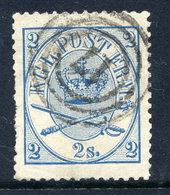 DENMARK 1864  Royal Insignia 2 Sk. Pale Blue, Used.  Michel 11A - 1864-04 (Christian IX)