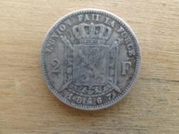 Belgique  2  Francs  Fr  1867  Km 30.1  Argent - 1865-1909: Leopold II