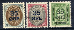 DENMARK 1912 35 Øre Surcharges, Used.  Michel 60-62 - Used Stamps