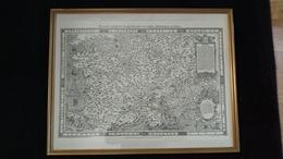 LA PLUS ANCIENNE CARTE DE FRANCE JOLIVET An 1578 Dim 68x53cm RARE Avec Encadrement - Engravings