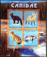 Congo 2007 Dogs Mammals Minisheet MNH - Perros