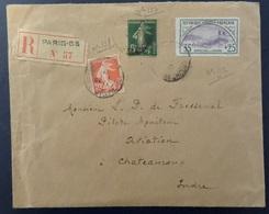 France Orphelins Maury N° 152 Oblitéré Sur Lettre Entière. Rare! B/TB. A Saisir! - France