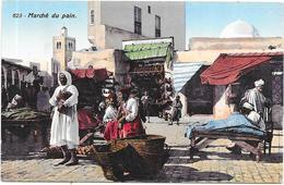 ALGERIE - SCENES Et TYPES - CPA COLORISEE - Marché Du Pain - Edit Lehnert TUNIS -  DELC3 - - Szenen